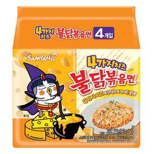 삼양 4가지 치즈 불닭볶음면 145G*4입